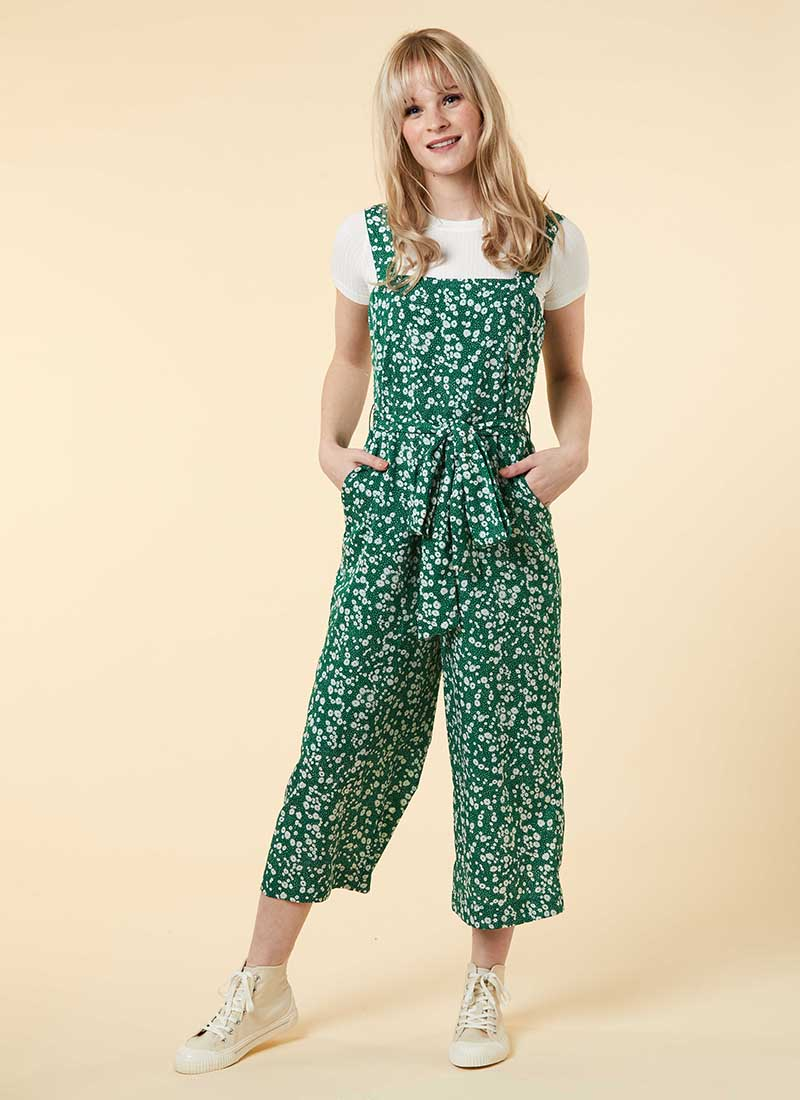 Graziana Ditsy Floral Print Jumpsuit Model Front
