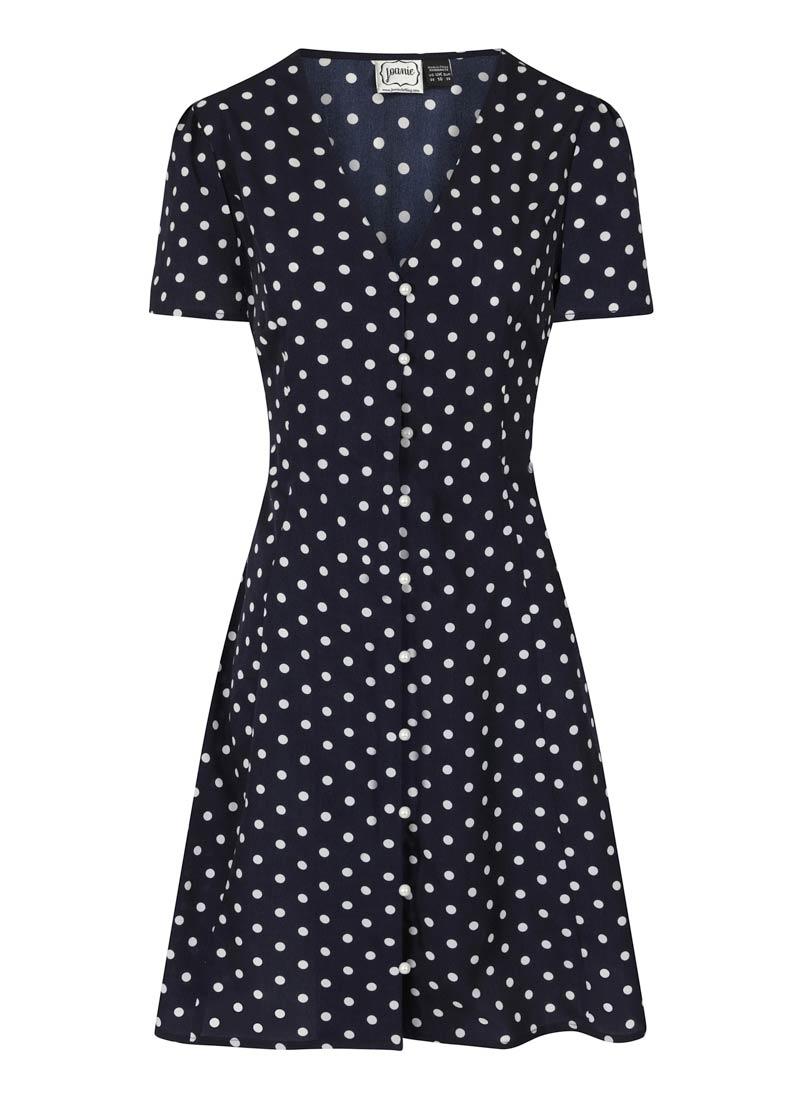 Gwen Polka Dot Mini Tea Dress Product Front