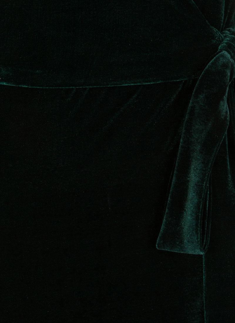 Harley Velvet Wrap Dress - Green