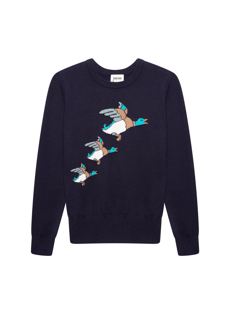 Hilda Flying Ducks Intarsia Jumper Product Front