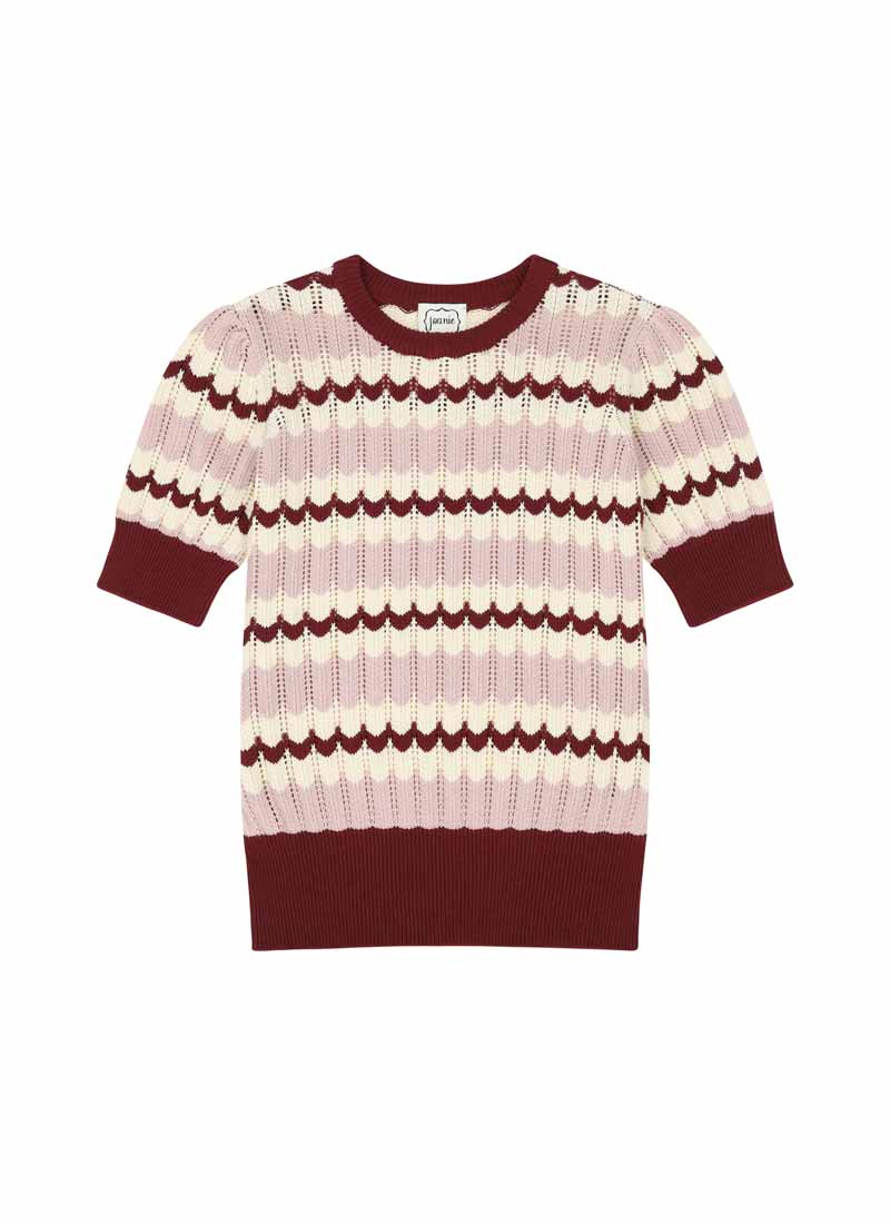 Hudson Scallop Stripe Knit Product Front