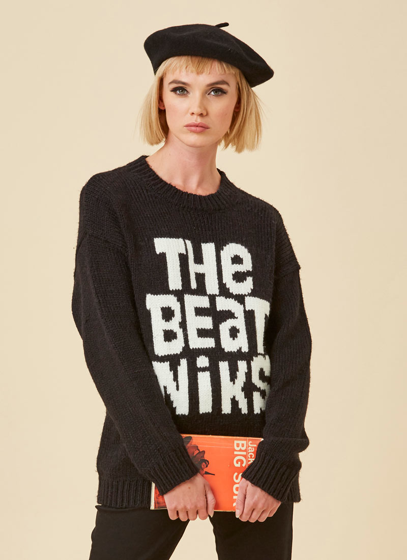 Jack The Beatniks Slogan Jumper