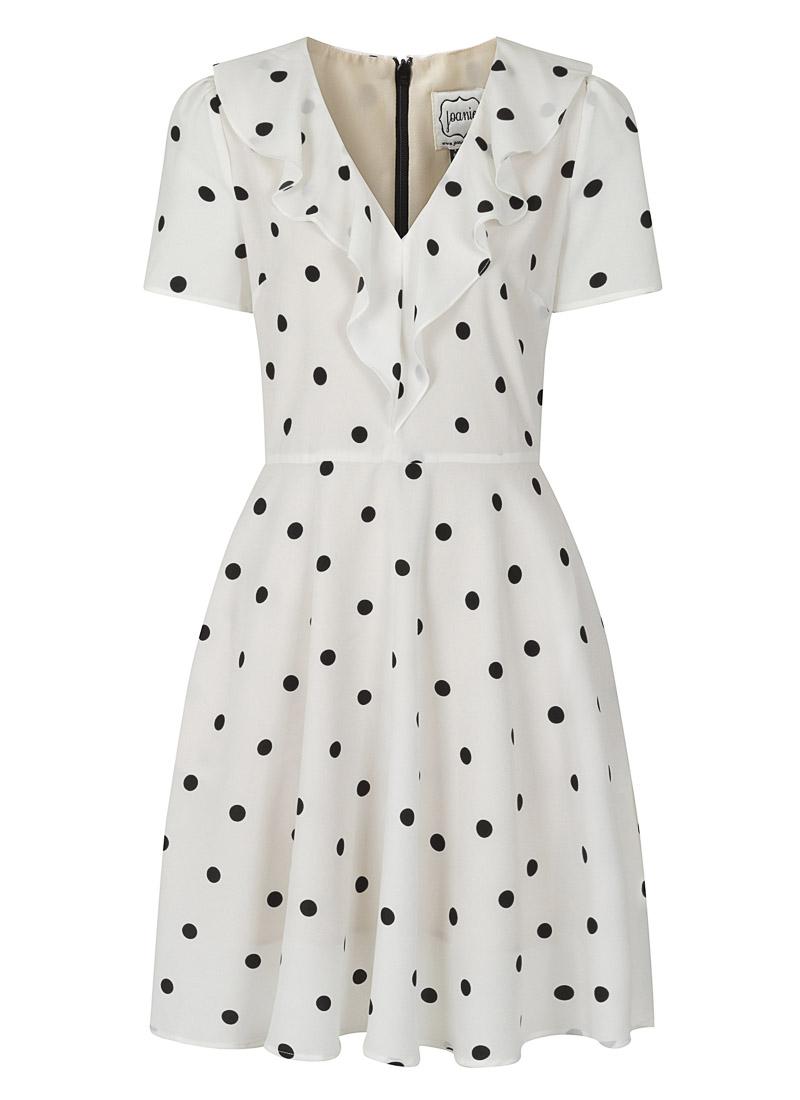 January Frill Neck Polka Dot Tea Dress Product Front