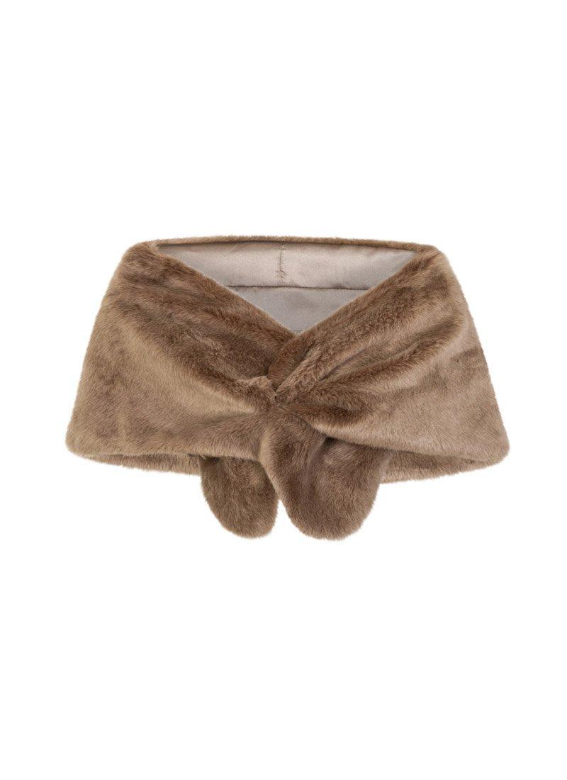 Antonia Mink Faux Fur Stole Product Front