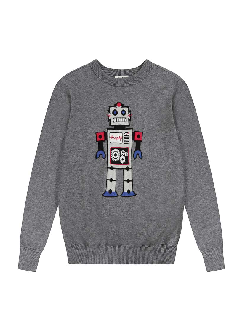 Johnny Robot Intarsia Jumper Product Front
