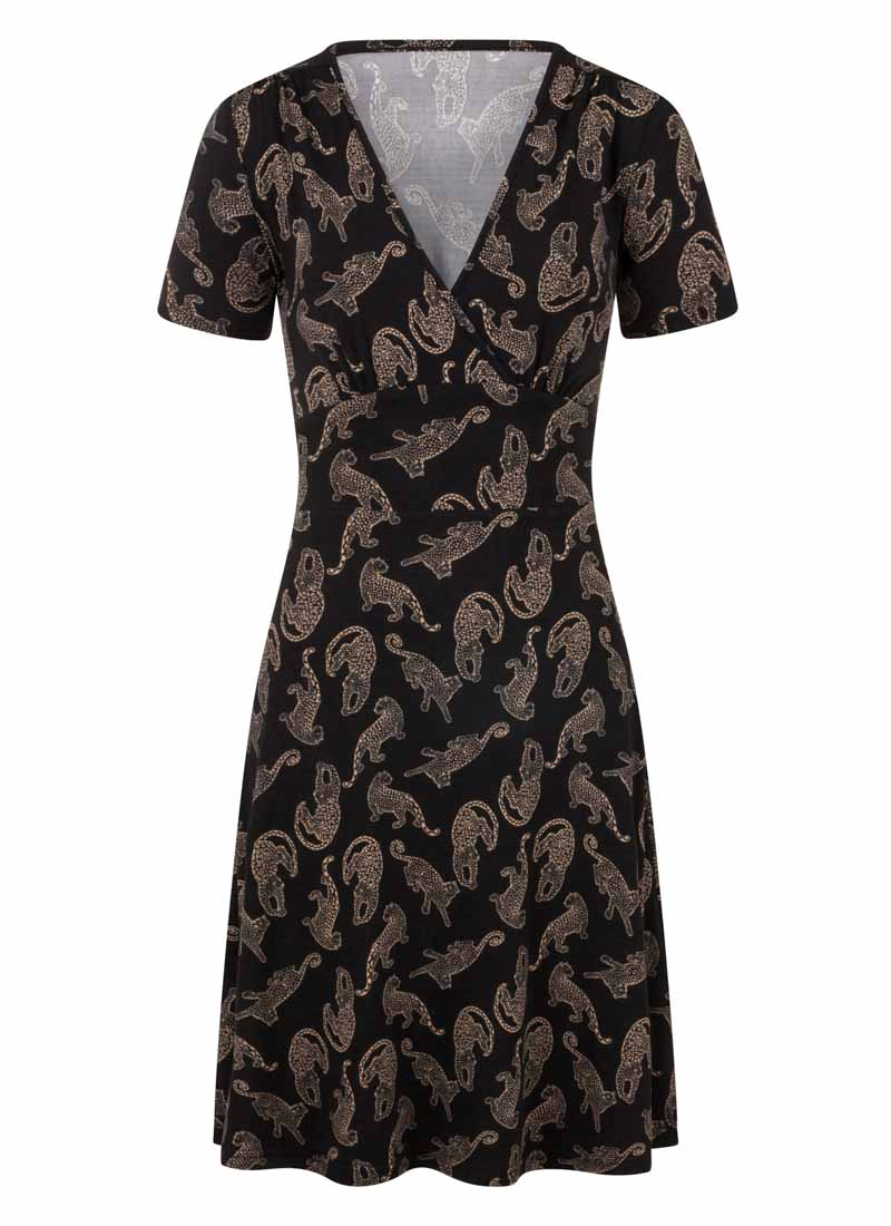 Julia Leopard Design Jersey Dress Product Front