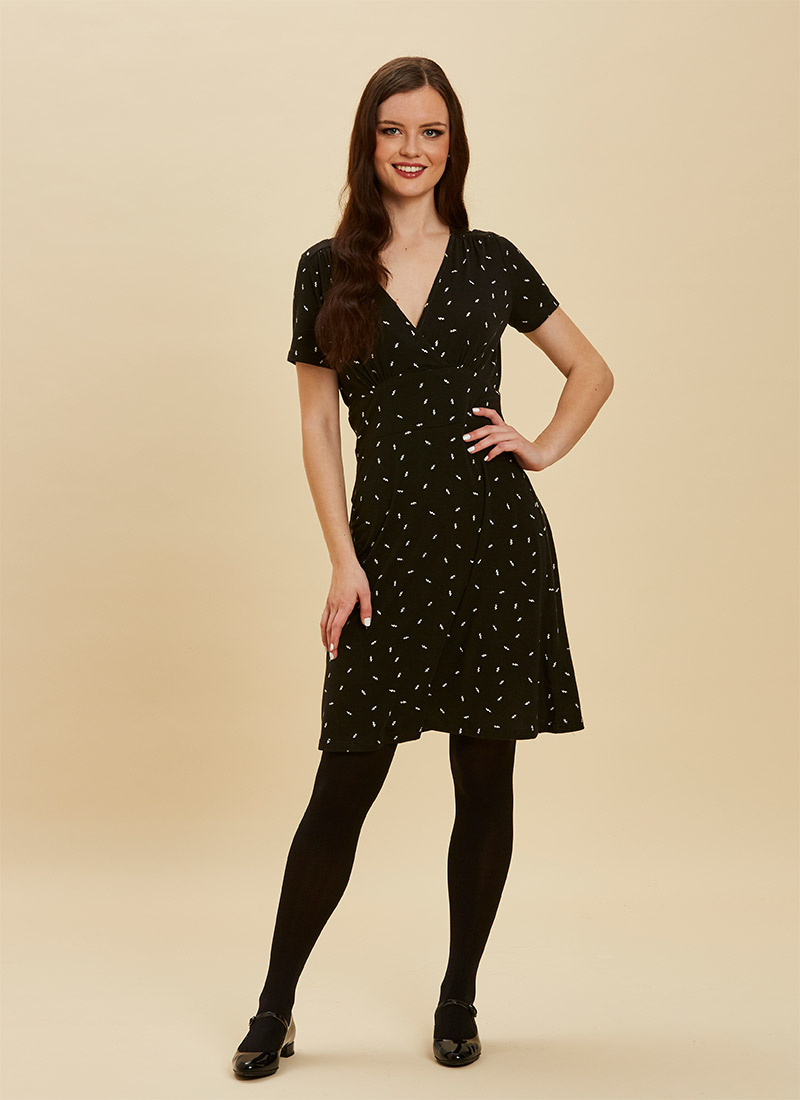 Julia Lightning Bolt Print Jersey Dress
