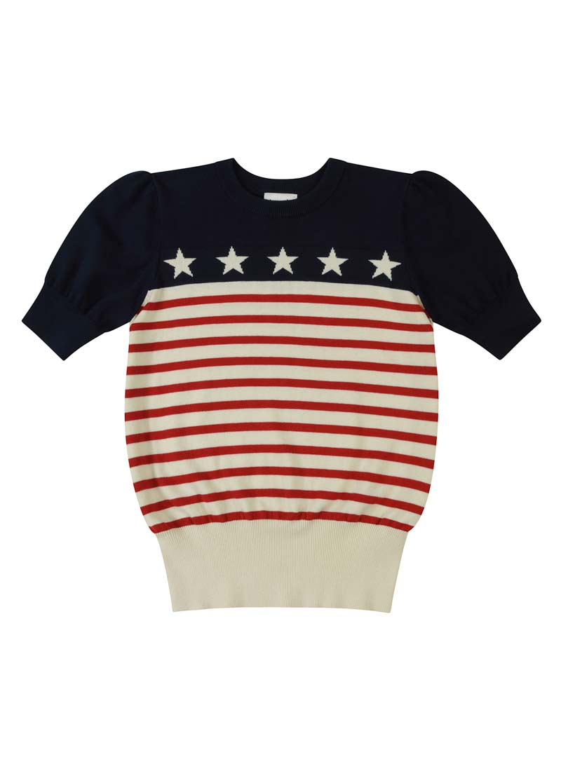 Kacey Stars and Stripes Knitted Sweater Product Front