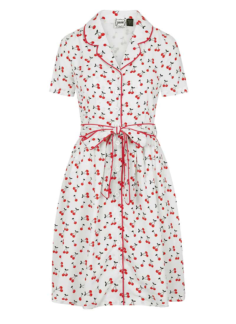Karlie Cherry Print Shirt Dress Product Front