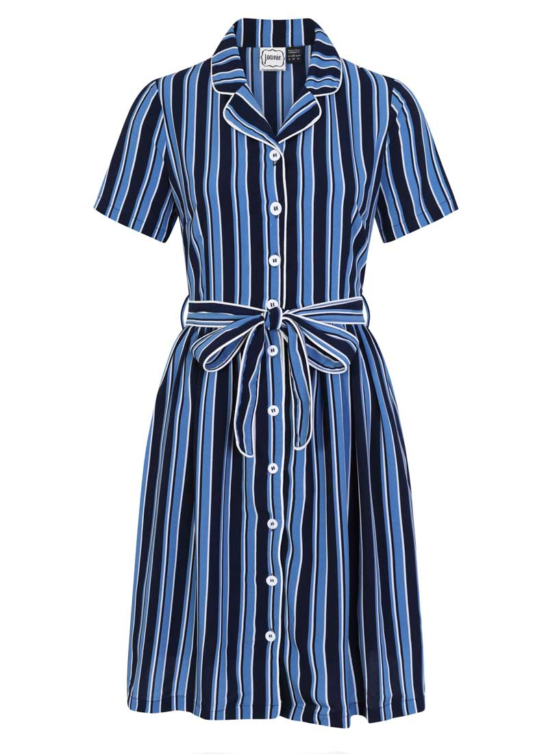 Karlie Stripe Shirt Dress Blue Product Front
