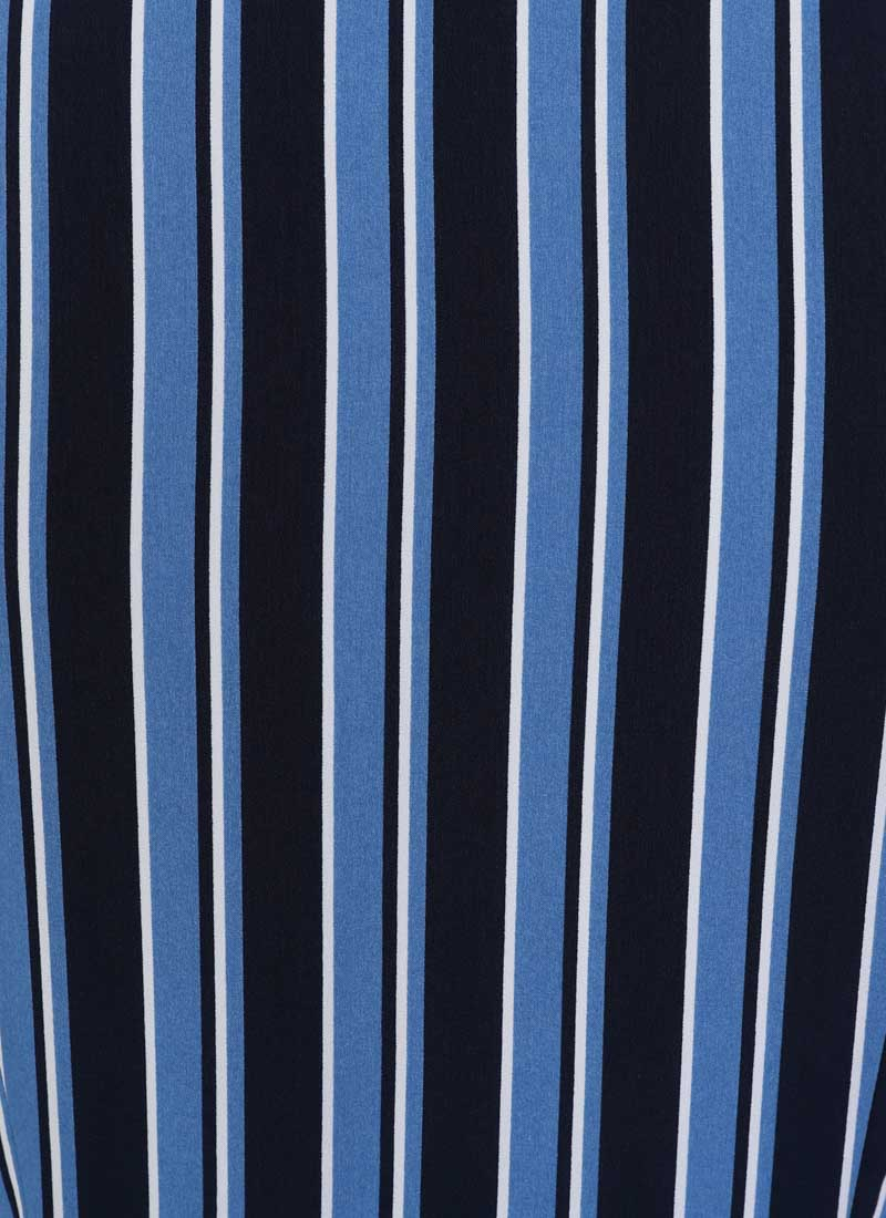 Karlie Stripe Shirt Dress - Blue