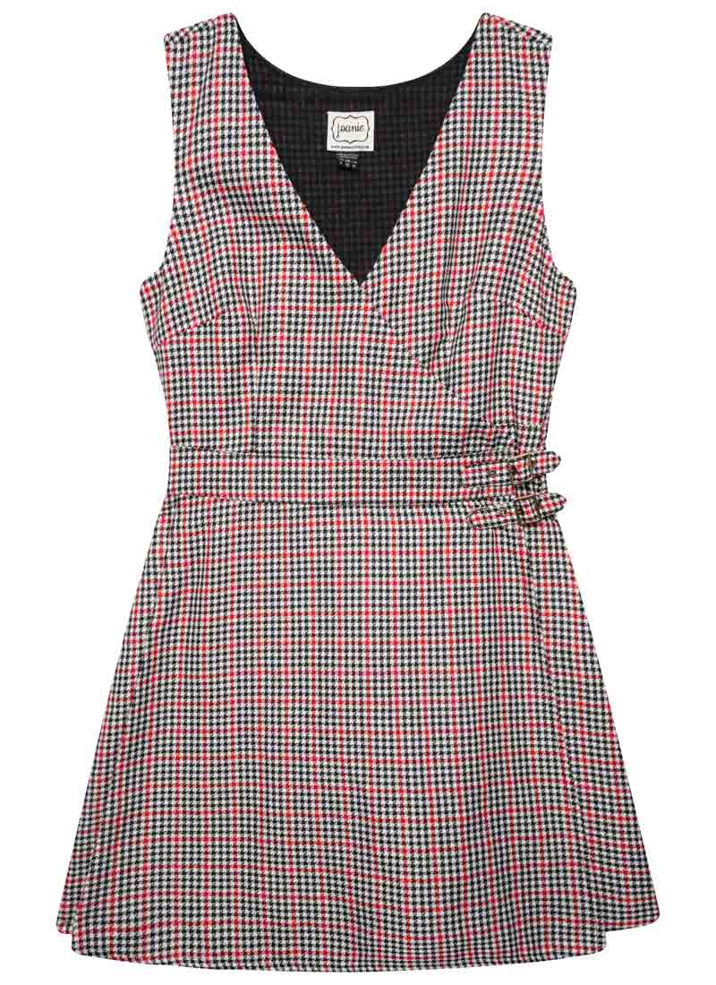 Kilty Dogtooth Check Pinafore Dress Product Front