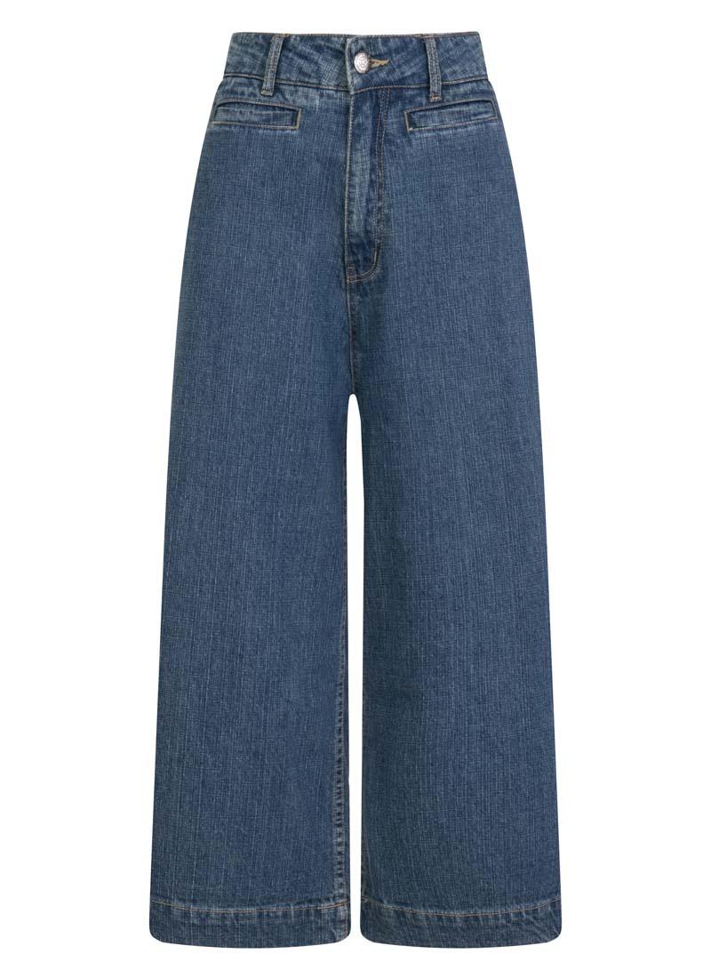 Lena Wide-Leg Crop Jeans Product Front