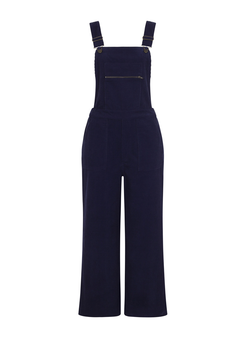 Leroy Cord Dungarees Blue Product Front
