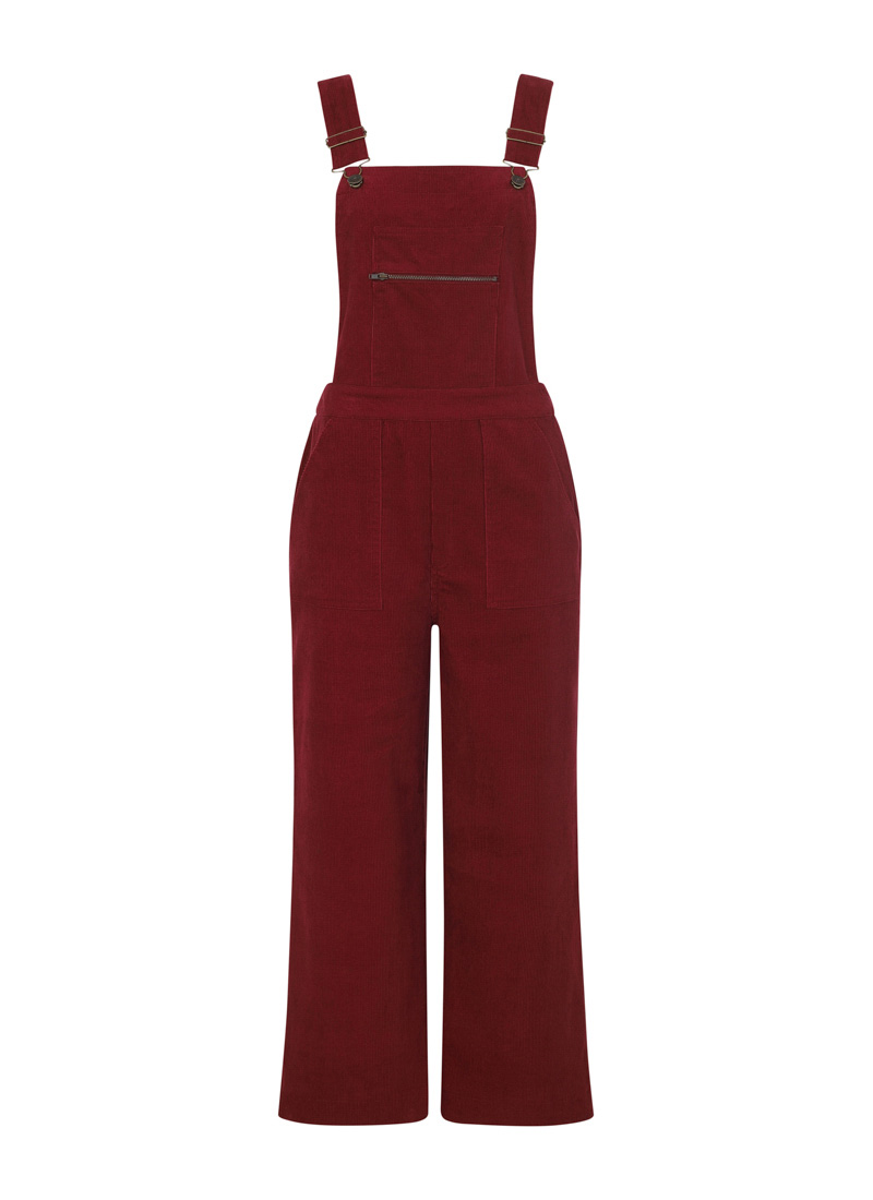 Leroy Cord Dungarees Red Product Front
