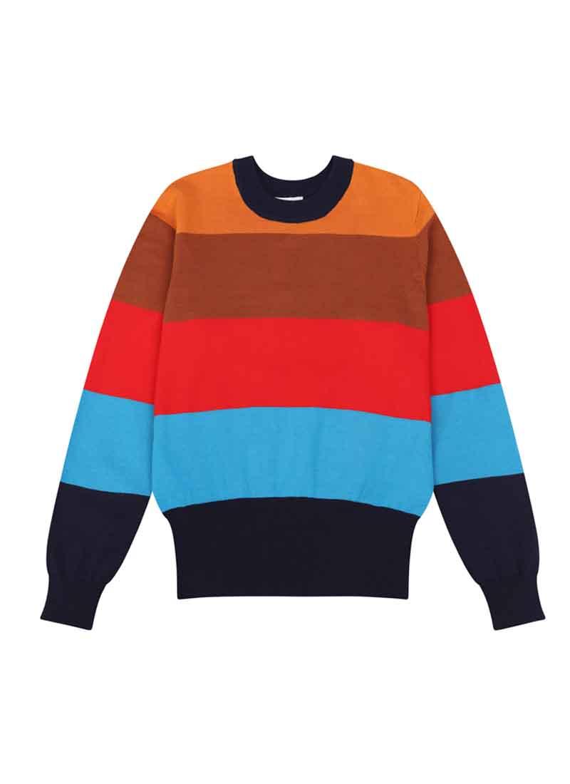 Loni Multicolour Bold Stripe Jumper Product Front