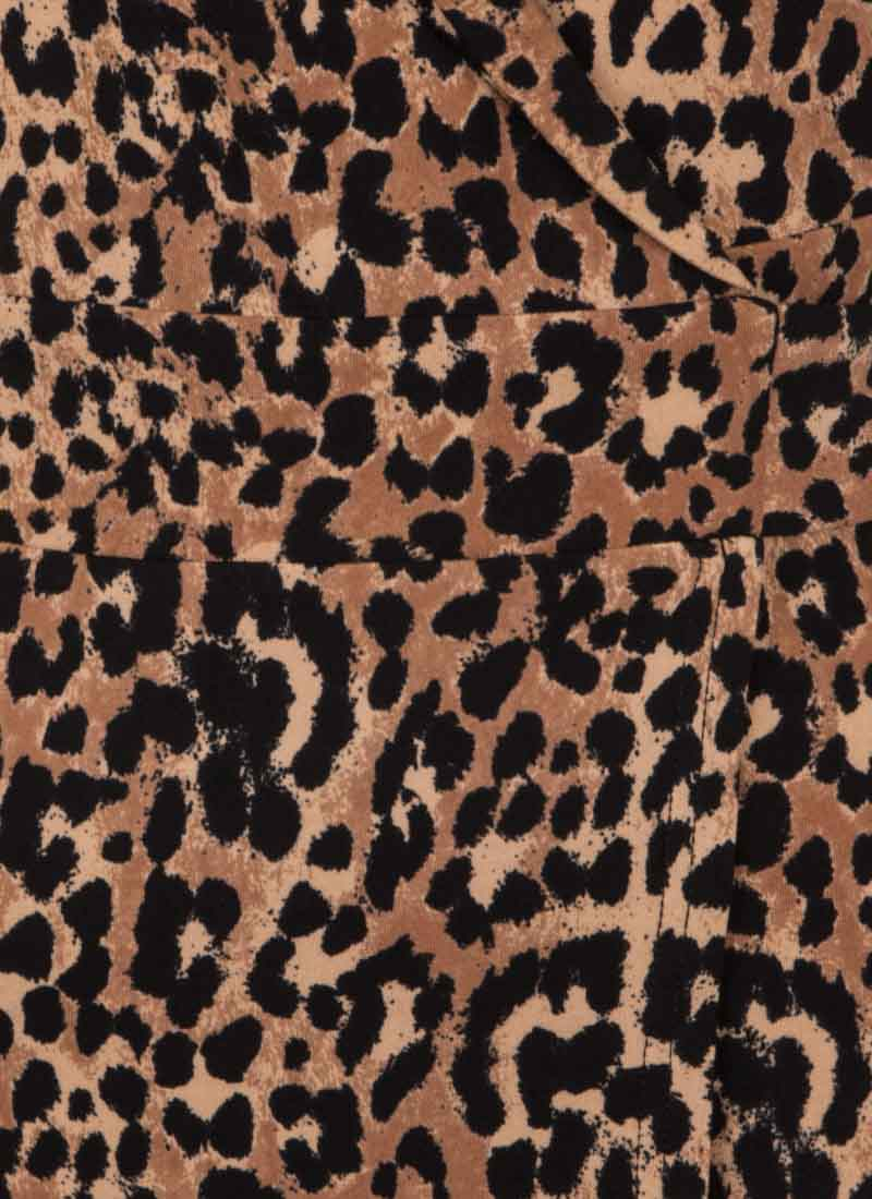 Lotta Leopard Print Wrap Dress