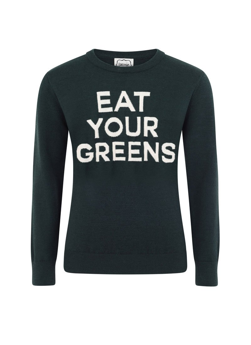 Macaulay Eat Your Greens Slogan Jumper Product Front