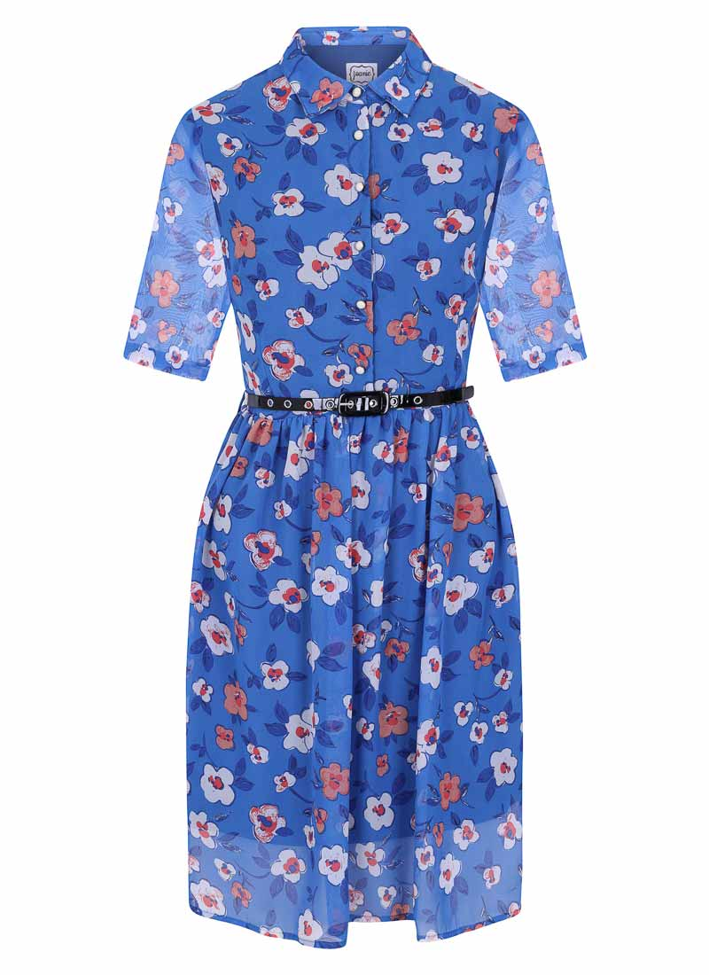 Martha Floral Print Shirt Dress Product Front