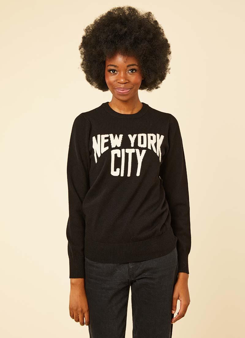 Marvin New York City Slogan Jumper Model Front