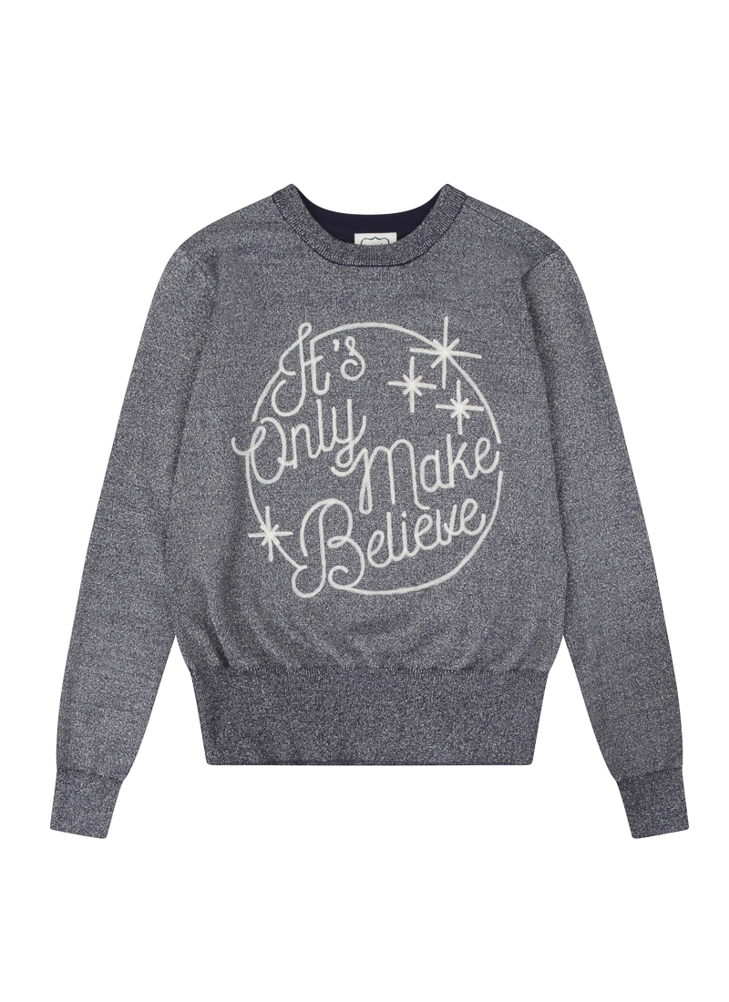Nora Make Believe Slogan Jumper Product Front
