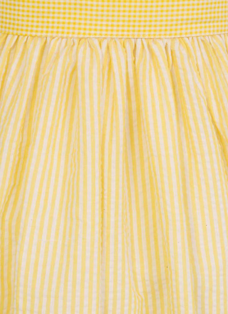 Noreen Contrast Stripe Shirt Dress - Yellow