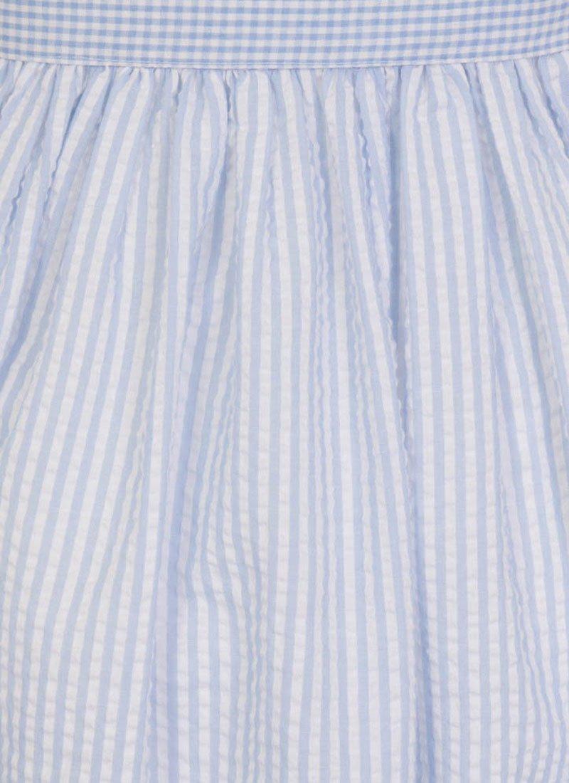 Noreen Contrast Stripe Shirt Dress - Blue