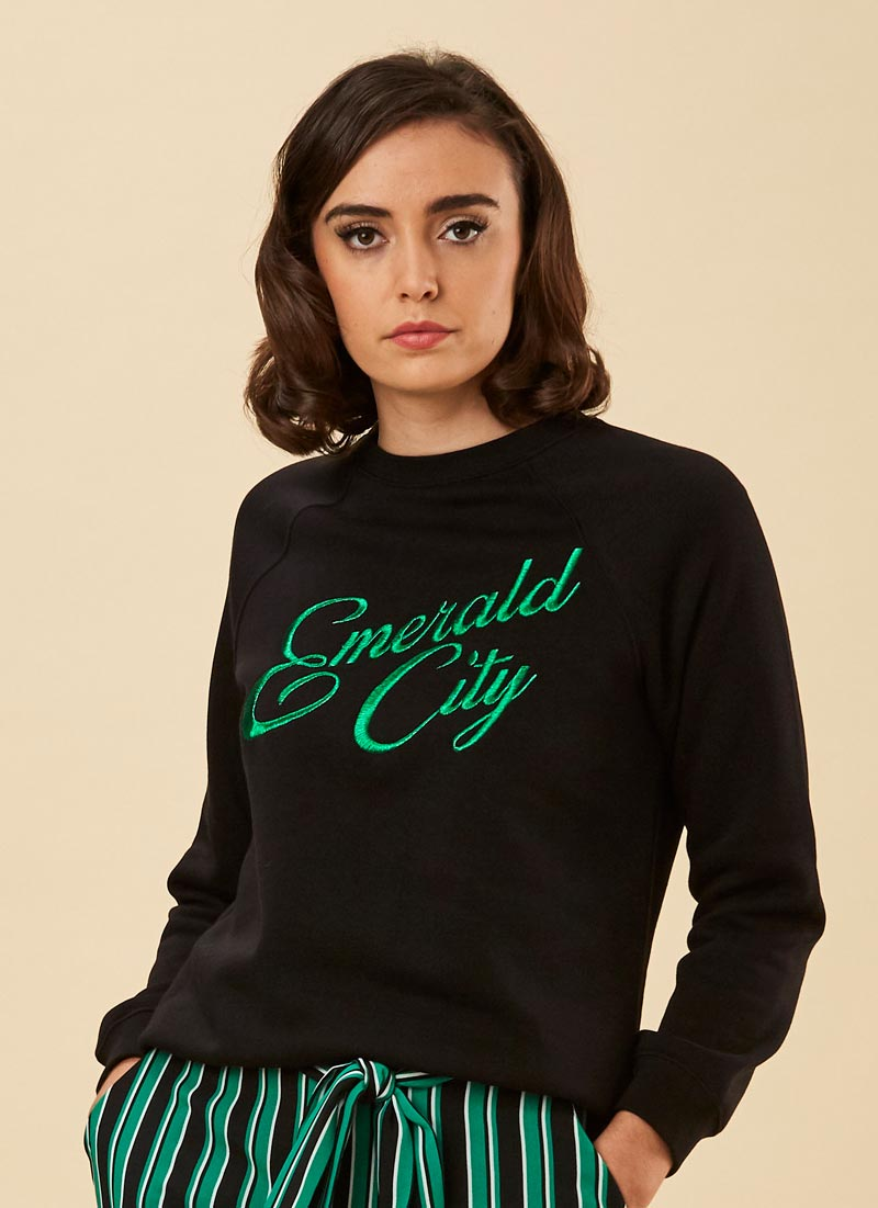 Oz Emerald City Slogan Sweatshirt