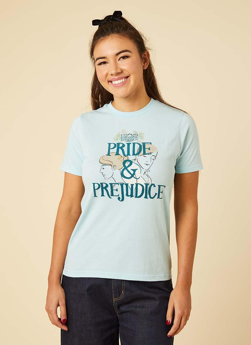 Pemberley Pride & Prejudice Slogan Tee Model Front