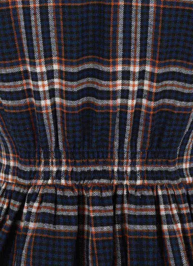 Pepper Flannel Check Shirt Dress