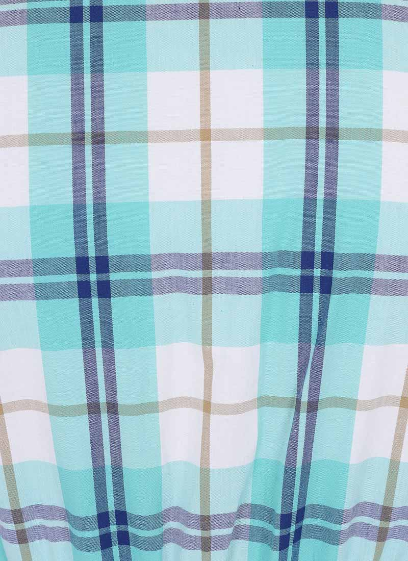 Pepper Check Shirt Dress - Green