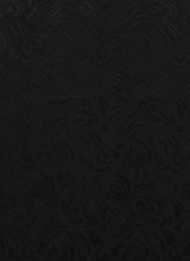 Prudence Jacquard Pinafore Dress - Black