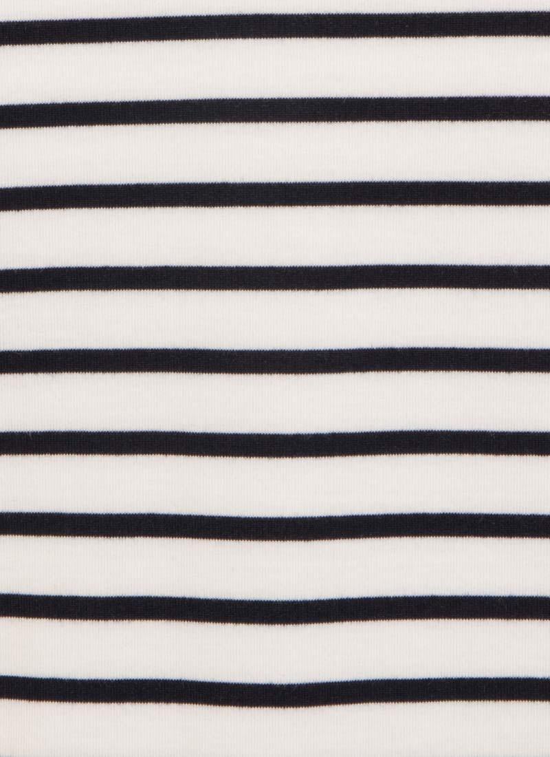 Sabrina Stripe Collar Top - White
