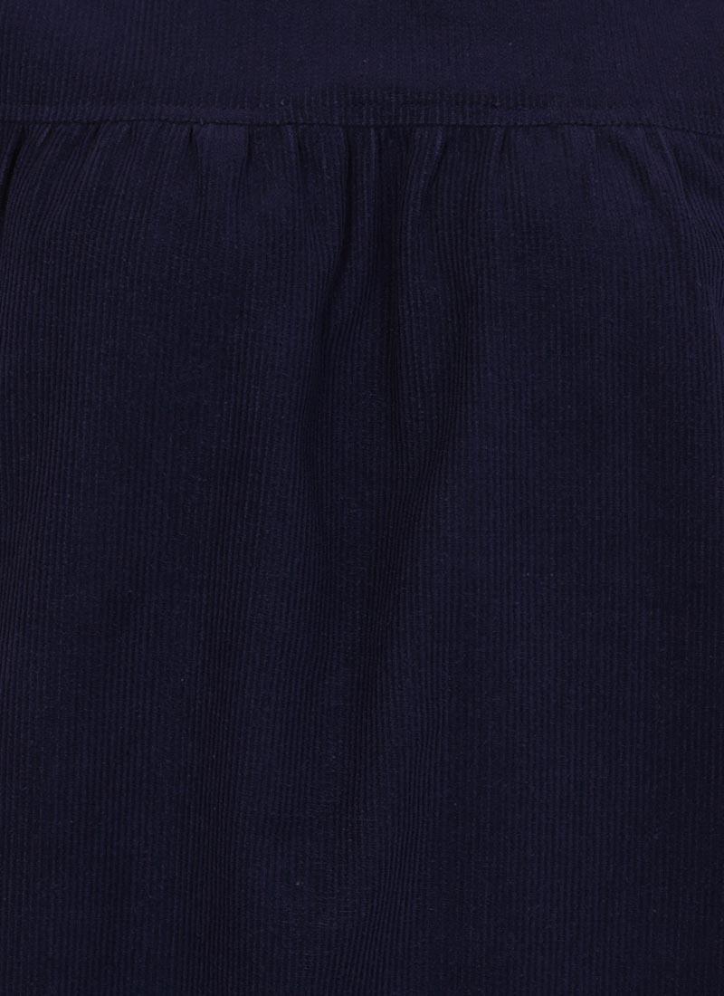 Sasha Cord Smock Dress - Navy