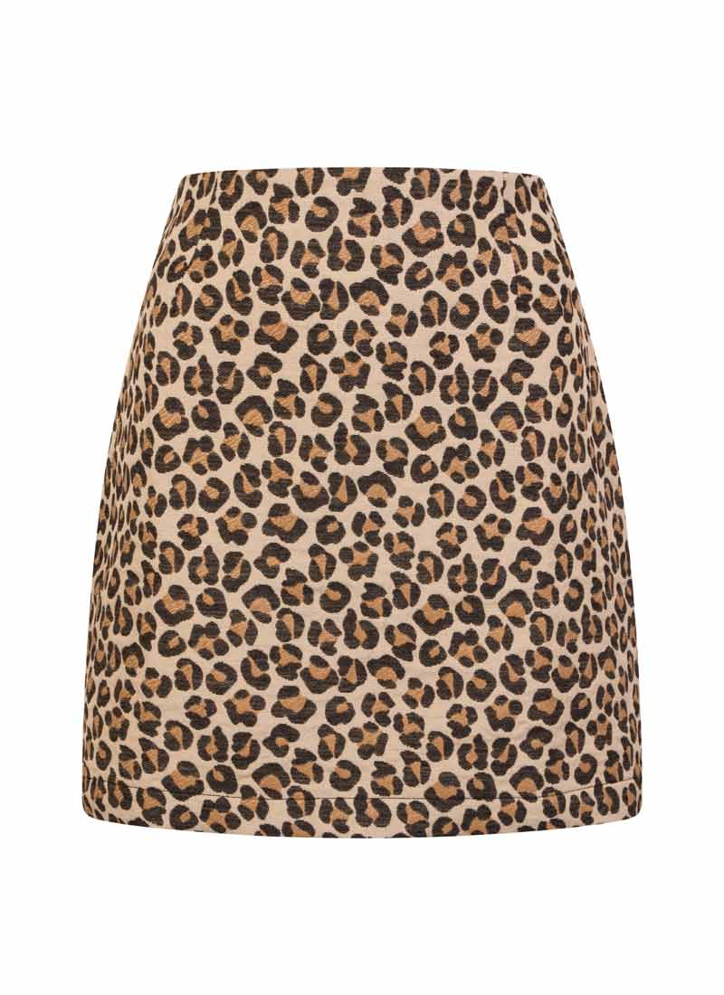 Scarlett Leopard Print Mini Skirt Product Front