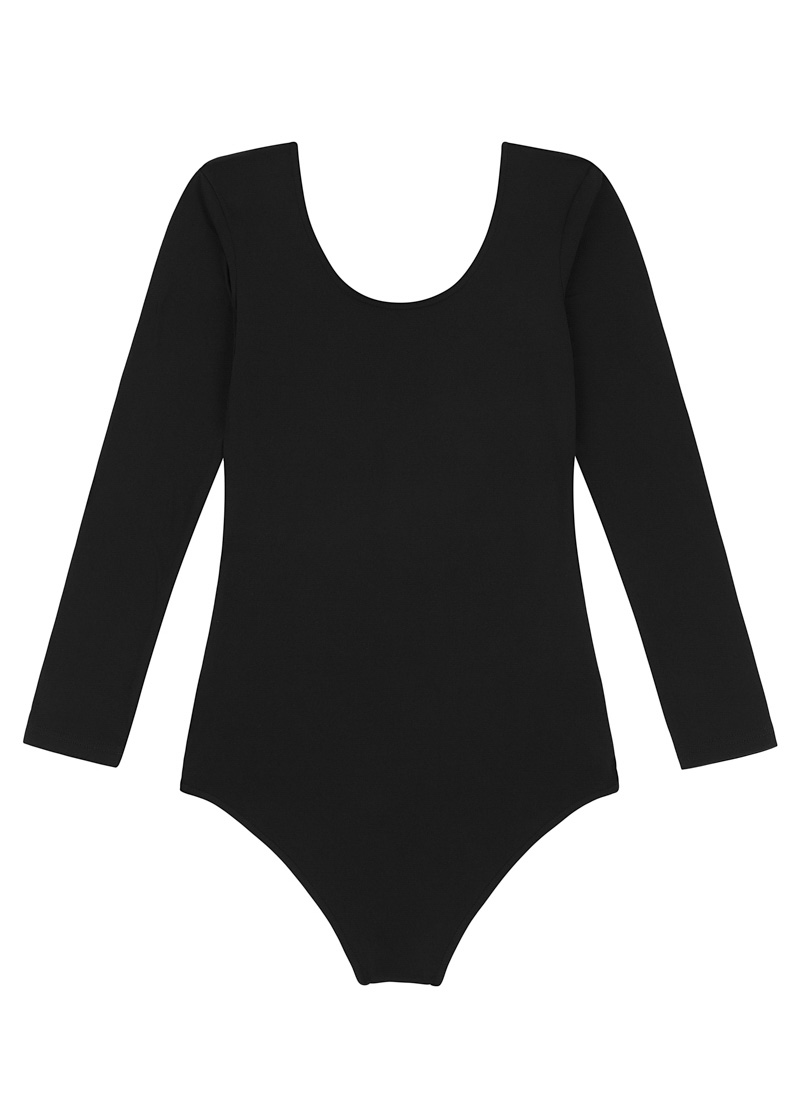 Sedgwick Scoop Neck Bodysuit Black Product Front