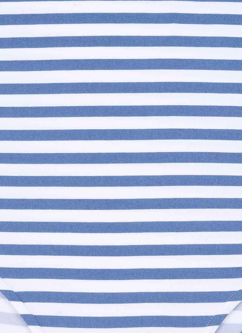 Selina Roll Neck Bodysuit - Blue Stripe