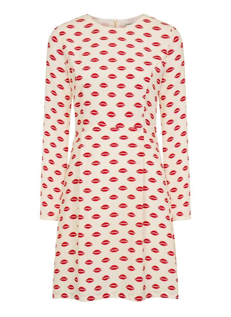 Simmons lip print shirt dress product view