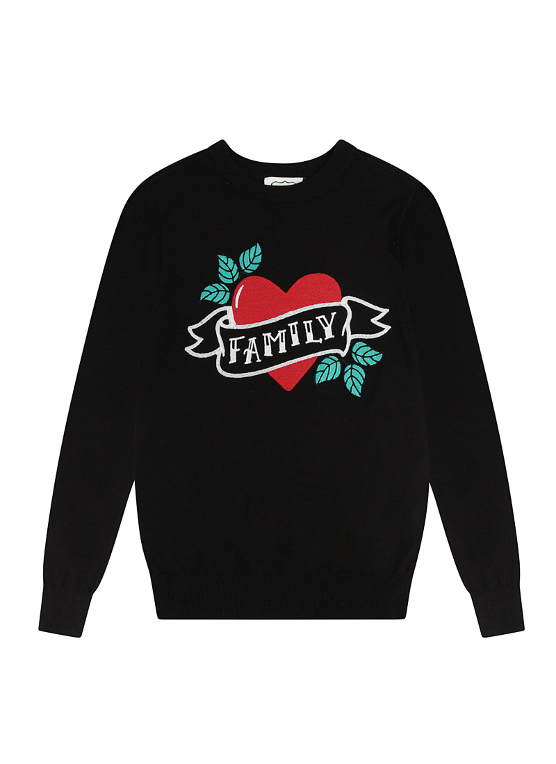 Smith Family Tattoo Slogan Jumper Product Front