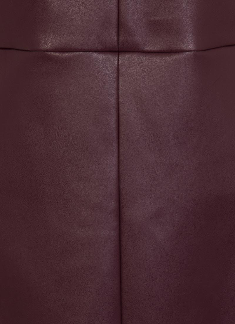 Soho Leather-Look Pinafore Dress - Plum