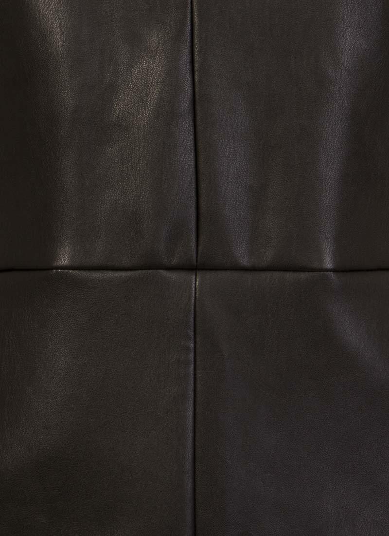 Soho Leather-Look Pinafore Dress - Black