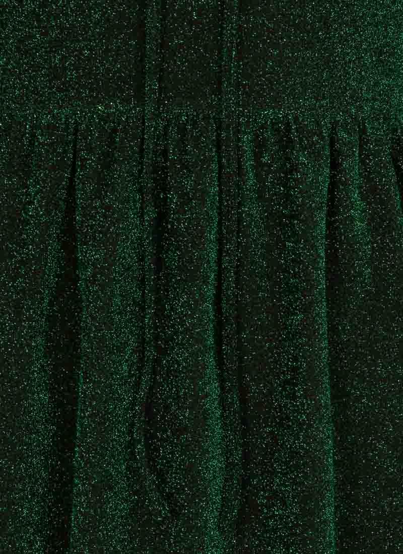 Sparky Metallic Midi Dress – Green