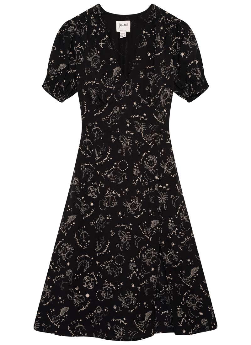 Venus Astrological Print Midi Dress Product Front