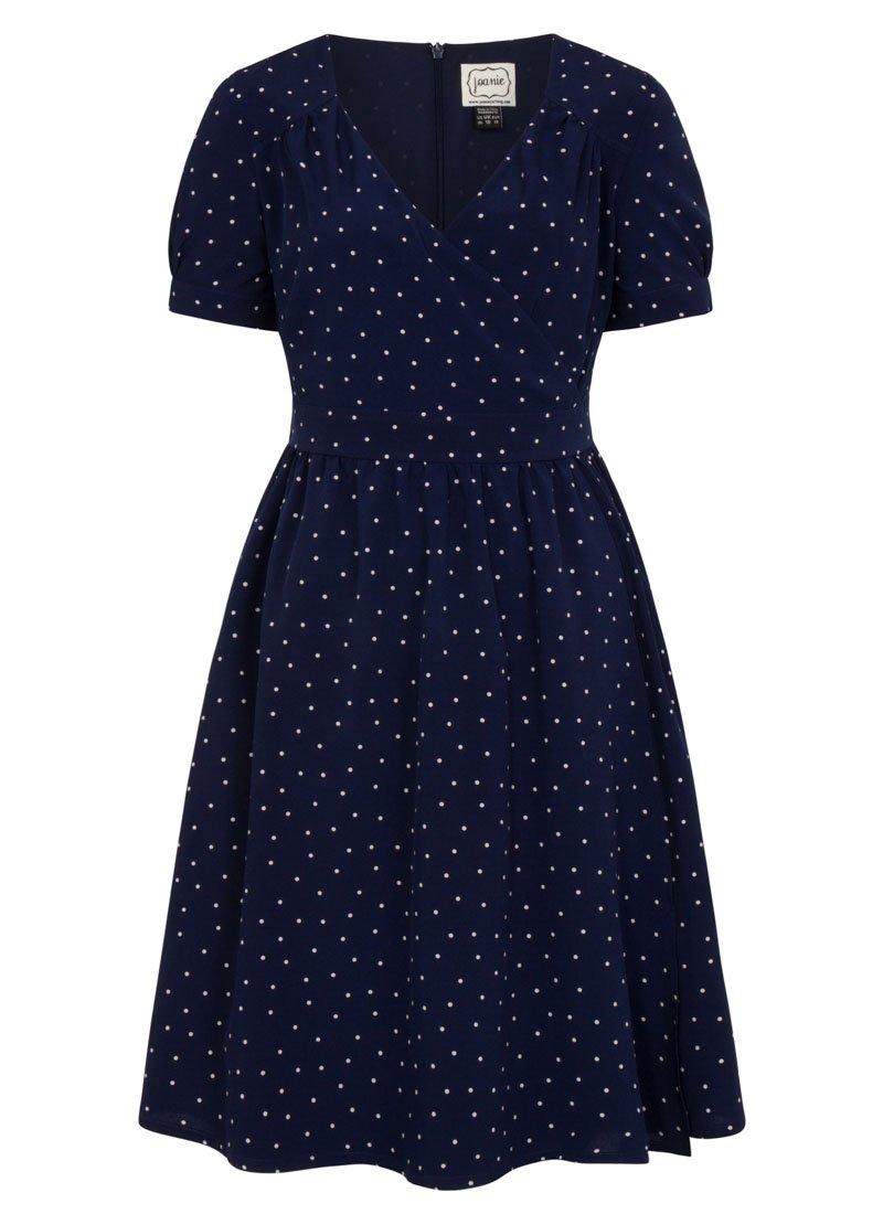 Vera Polka Dot Wrap Front Dress