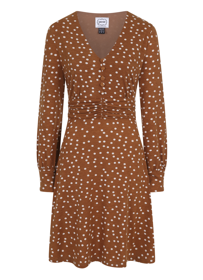 Veronica Polka Dot Jersey Dress