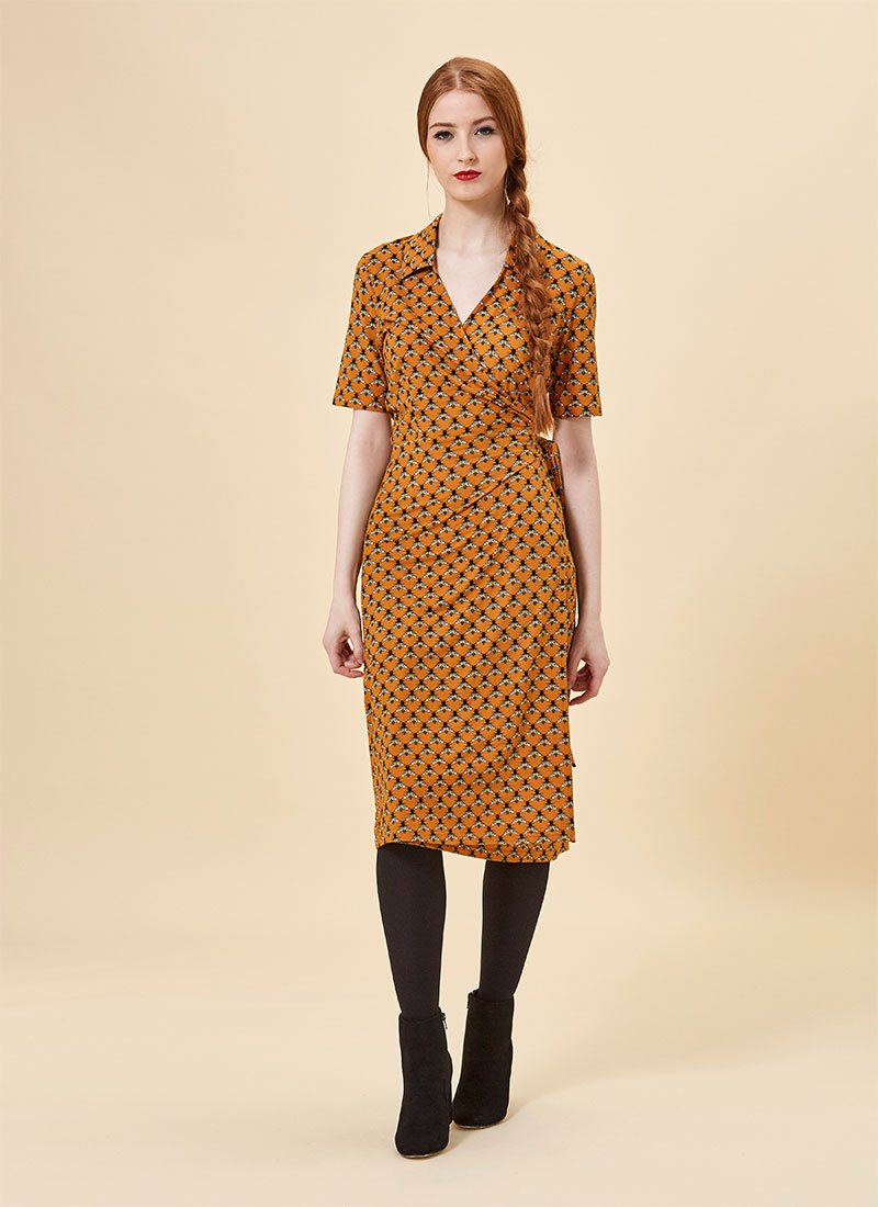 Vonnie Bee Print Wrap Dress