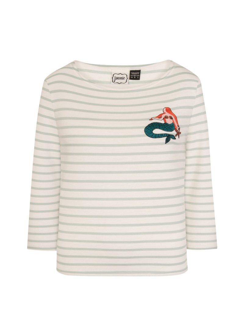 Wanda Mermaid Breton Stripe Top Product Front