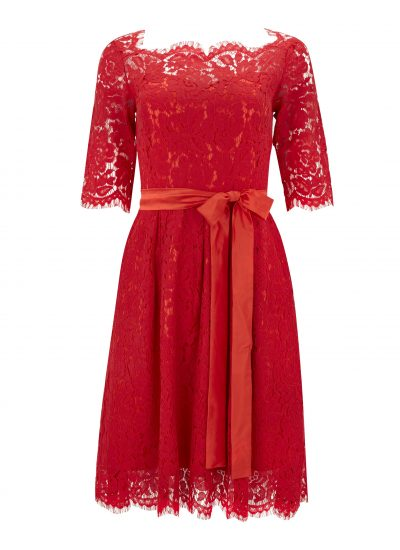 lace tie waist occasion dress