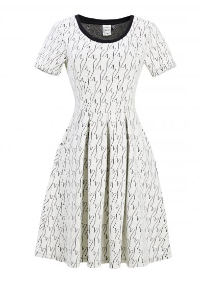 Cece Dogtooth Dress