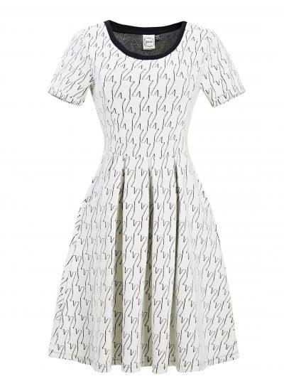 Cece Dogtooth Dress